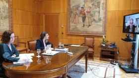 Una de las reuniones telemáticas de las responsables de Trabajo con los colectivos de autónomos.