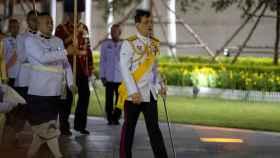 Maha Vajiralongkorn, en Bangkok, durante la ceremonia de honra a su padre, fallecido en 2016.