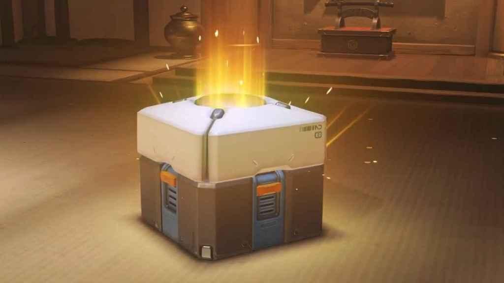 Caja de botín en el videojuego 'Overwatch'.