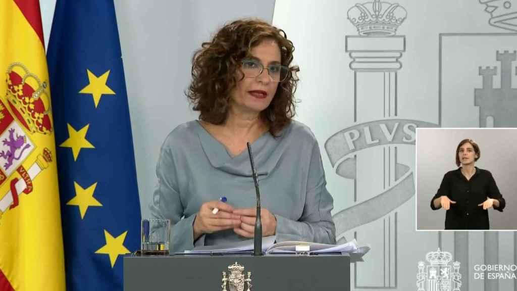 María Jesús Montero, ministra portavoz, en la Moncloa.