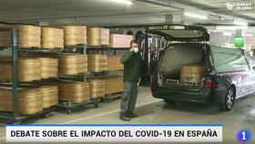 Imágenes de los informativos de TVE.