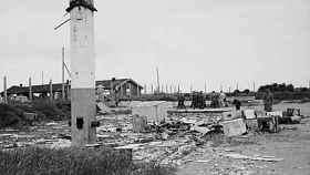 El campo de Sylt en 1945.