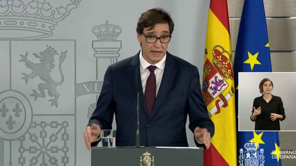 Salvador Illa, ministro de Sanidad, en Moncloa.
