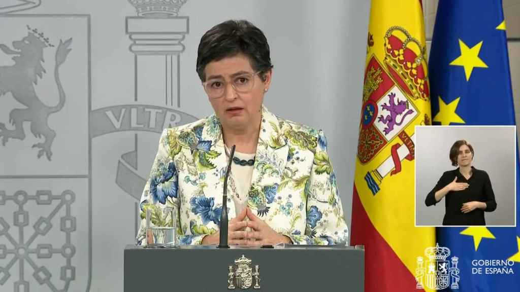 Arancha González Laya, ministra de Asuntos Exteriores, en la Moncloa.