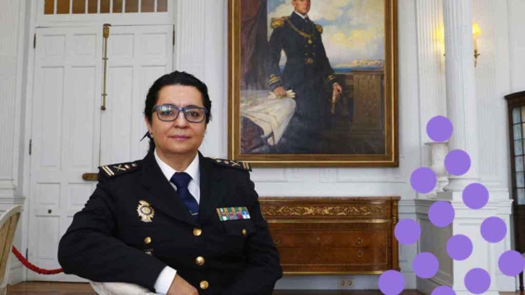 La comisaria principal Pilar Allué, en su participación en los cursos de verano de la Menéndez Pelayo.