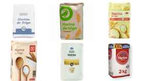 Harina de marca blanca de Mercadona, Alcampo, Carrefour, DIA, Aldi y Lidl.