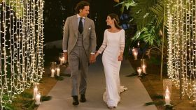 Feliciano López y Sandra Gago, en una de las imágenes inéditas de su boda.