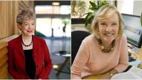 Desde la izquierda, las psicólogas galardonadas Susan Fiske y Shelley Taylor.