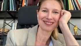 Anne Igartiburu durante uno de sus directos en Instagram.