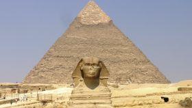 La esfinge y la pirámide de Giza.