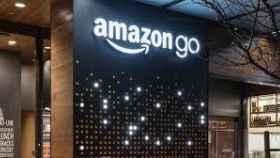 Rótulo en unas instalaciones de Amazon.
