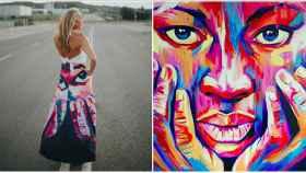 La falda 'Ahora'junto al cuadro que la inspiró.