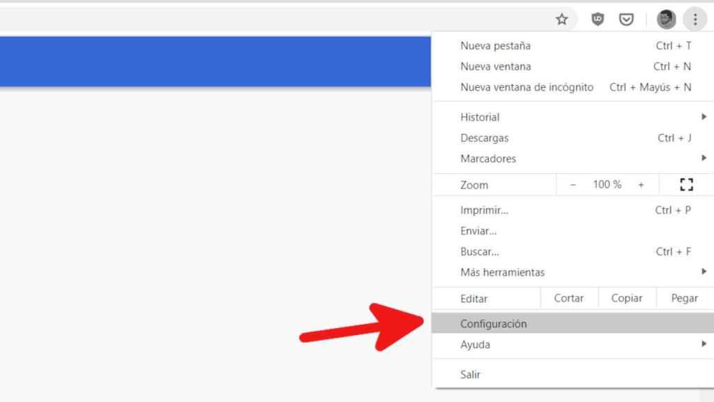 Cómo acceder a la configuración de Chrome