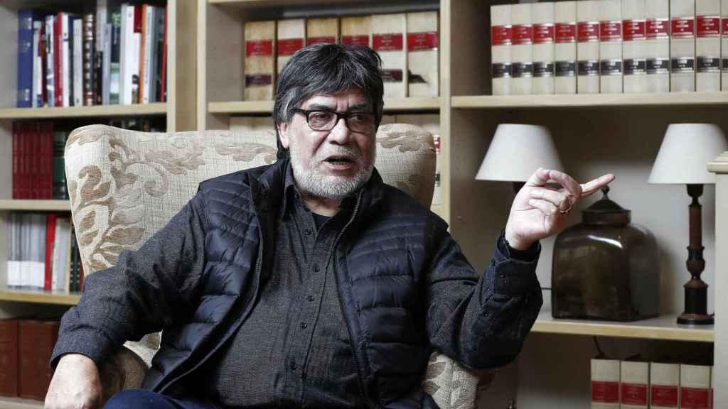 El escritor chileno Luis Sepúlveda en una entrevista.