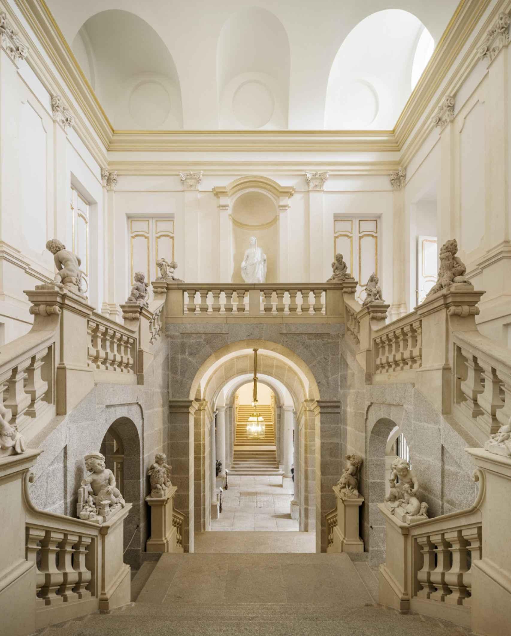 Interior del Palacio de Riofrío.