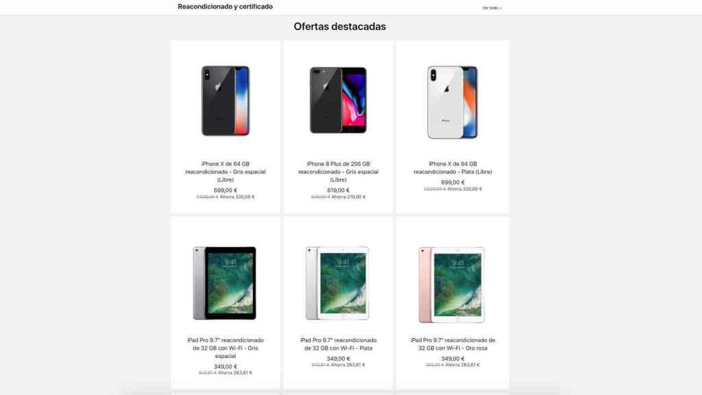 Reacondicionados de Apple.