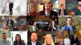 Los miembros de la Realeza Europea durante el vídeo de felicitación.