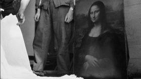 La Mona Lisa siendo trasladada a Chambord por orden de Jacques Jaujard.