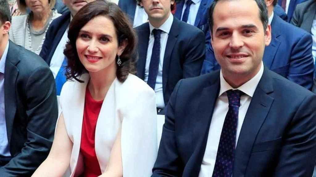La presidenta de Madrid, Isabel Díaz Ayuso, y su vicepresidente, Ignacio Aguado, en imagen de archivo.