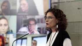 La ministra Montero durante la rueda de presa de este jueves.