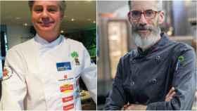 César Ruiz, chef ejecutivo de José Luis; y Julio Miralles, chef ejecutivo de Zalacaín.