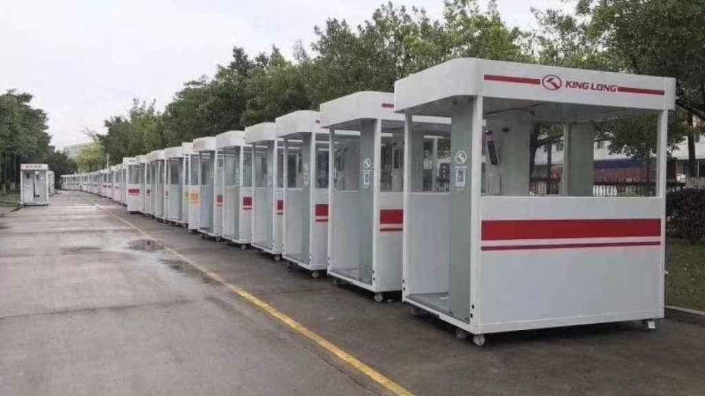 Cabinas preparadas anticoronavirus para envío