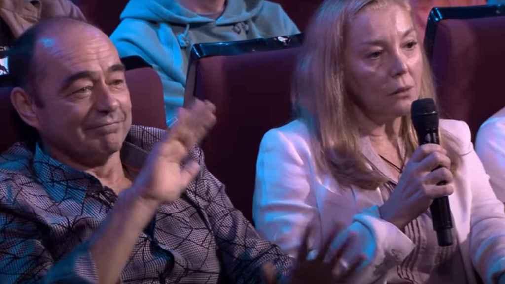 Los padres de la joven actriz, en un programa de televisión.