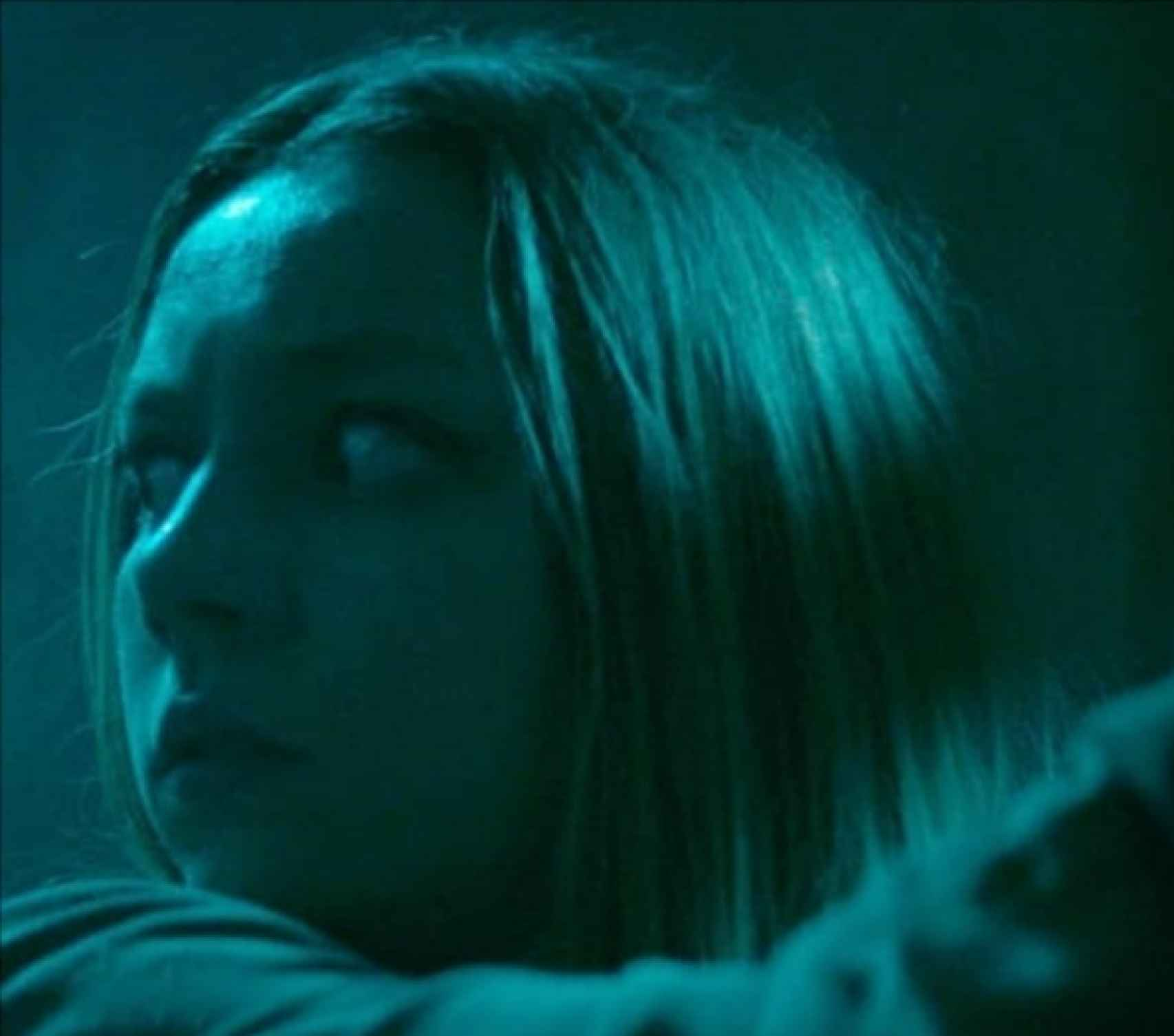 La intérprete, en una secuencia de la película 'Cuando los ángeles duermen'.