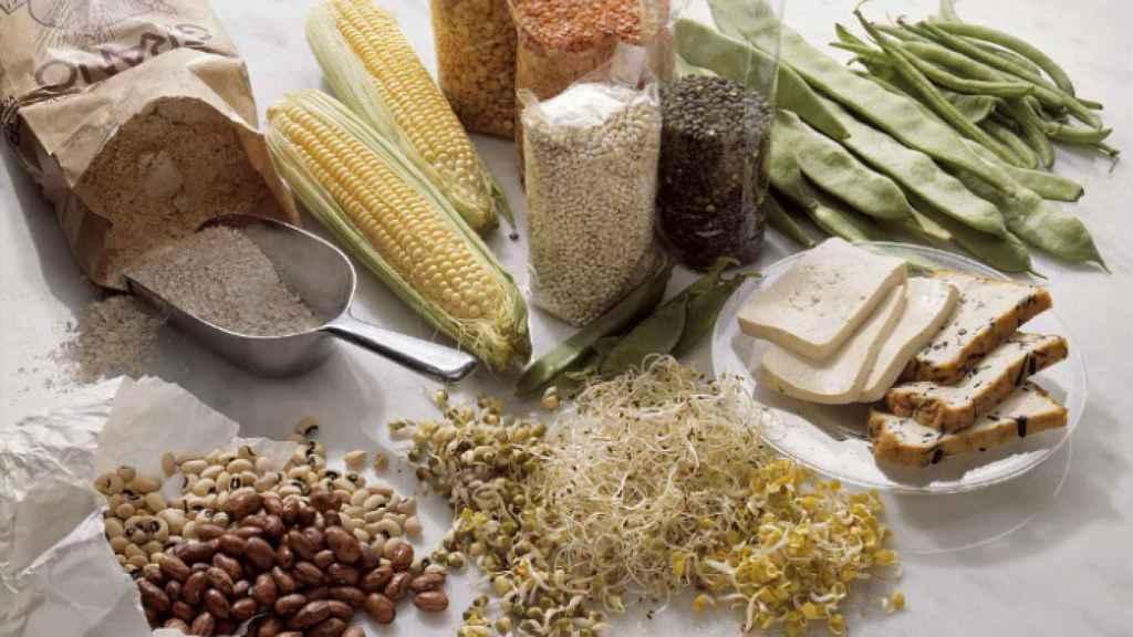 Alimentos saludables de base vegetal ricos en FODMAPs.