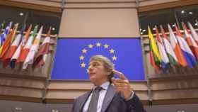 El presidente de la Eurocámara, David Sassoli, durante el pleno de esta semana
