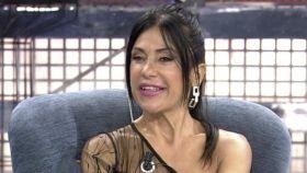 Maite Galdeano durante una entrevista en Telecinco