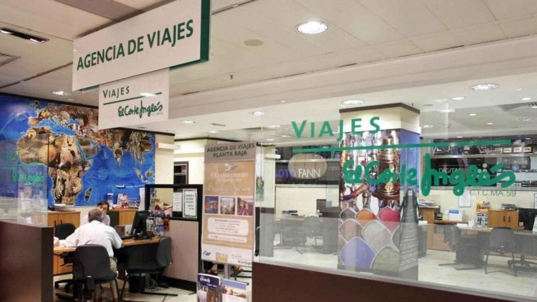 Imagen de una agencia de Viajes El Corte Inglés.