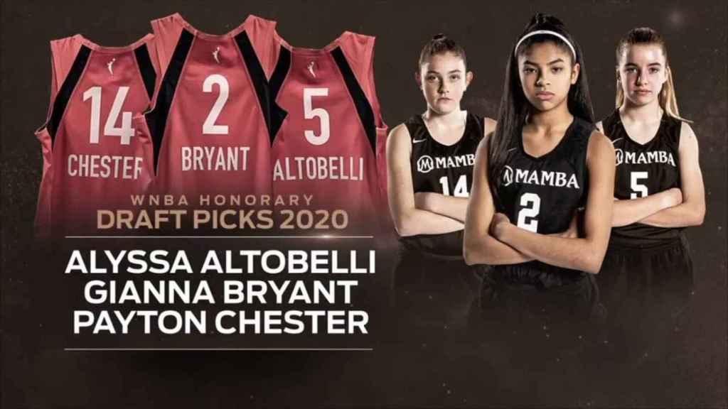 Alyssa Altobelli, GIanna Bryant y Payton Chester