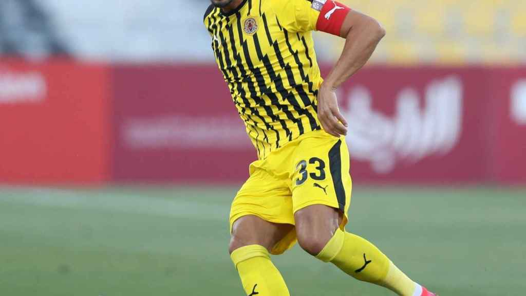 Gálvez, durante un partido con el Qatar SC