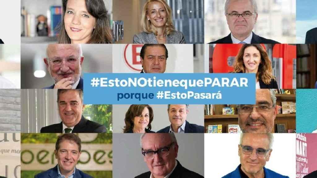 Imagen de alguno de los participantes en la campaña #Estonotienequeparar.