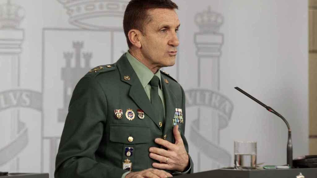 El Jefe del Estado Mayor de la Guardia Civil, el general José Manuel Santiago.