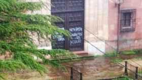 Pintadas en edificios históricos de Sigüenza