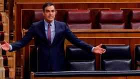 Pedro Sánchez, durante la primera sesión de control tras decretarse el estado de alarma.