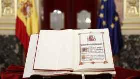 Ejemplar de la Constitución española./