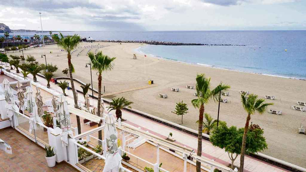 Imagen de archivo de una playa de Canarias.