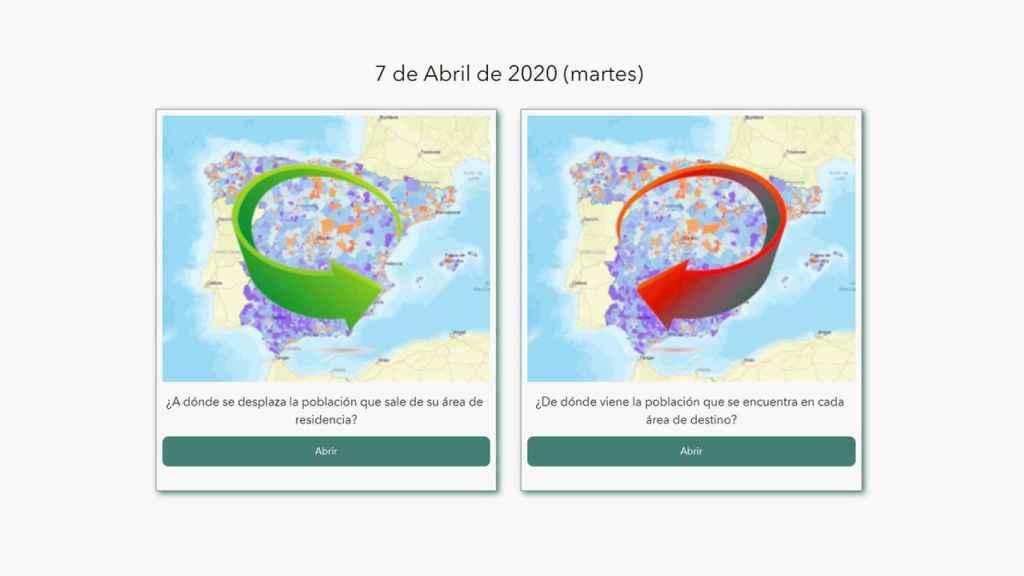 Comparativa entre mapas.