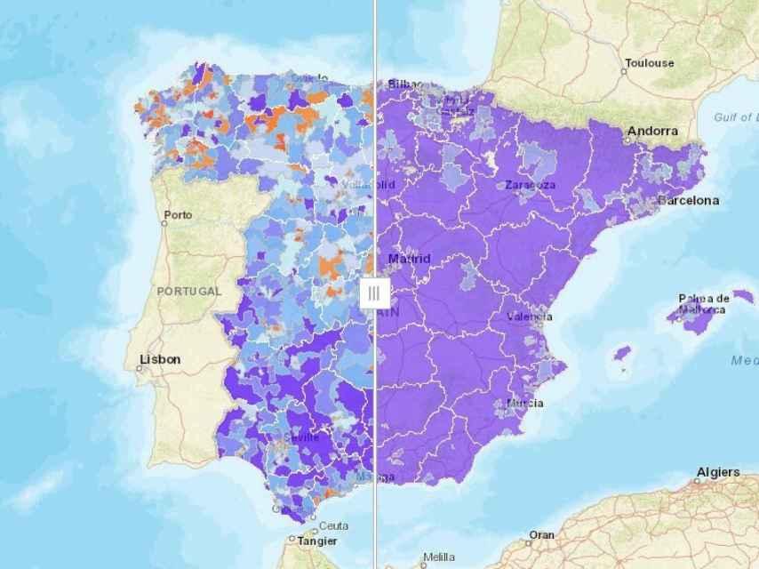 Dispersión de población (izquierda), escasez de movimientos (derecha).