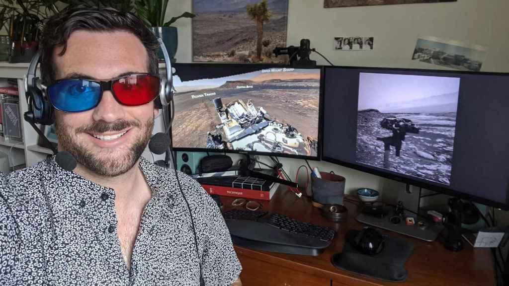 Gafas de baja tecnología para controlar el Curiosity