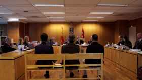 Celebración de un juicio en la Audiencia de Madrid./