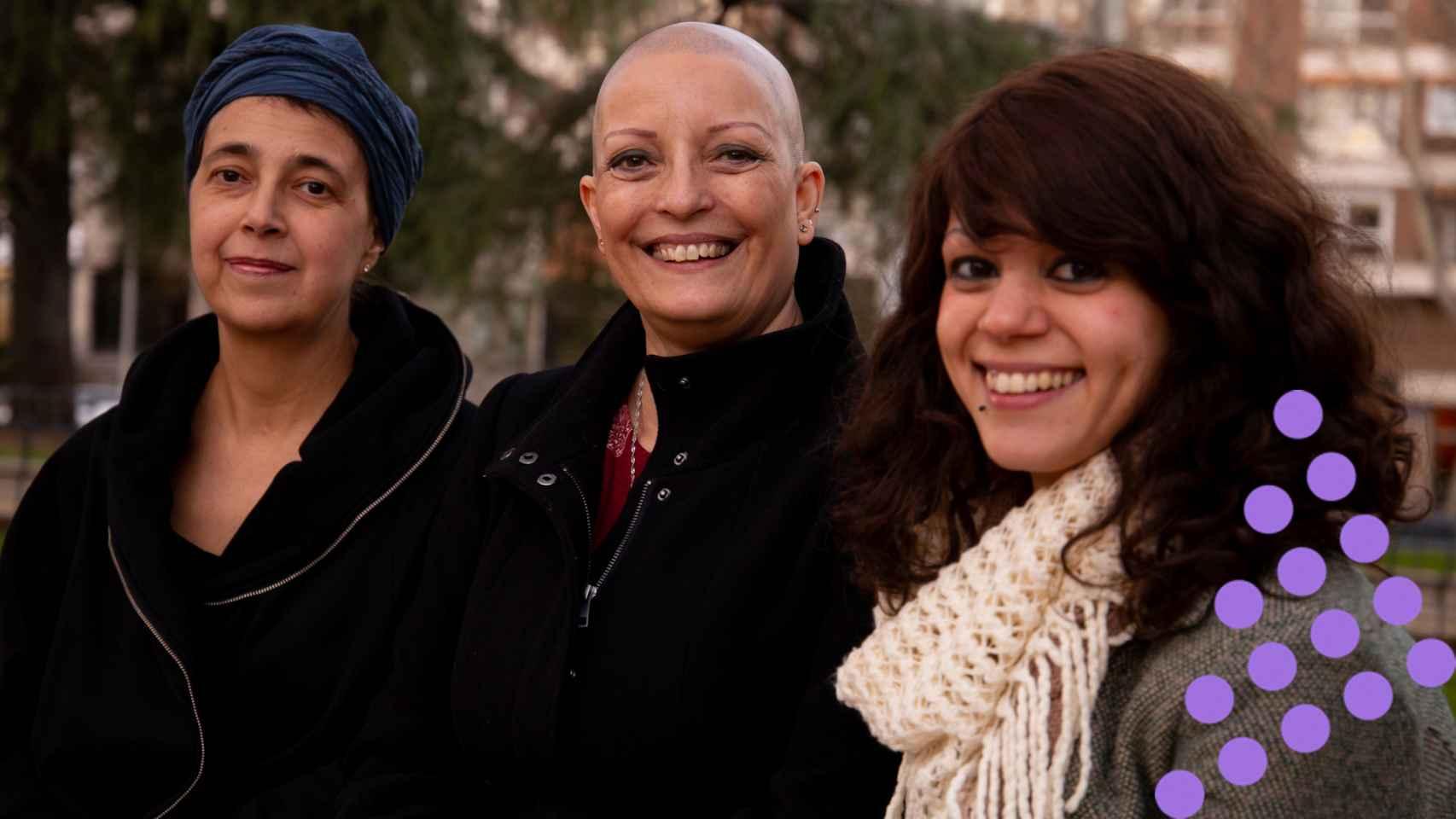 Marta, Conchi y Laura sufren alopeacia.