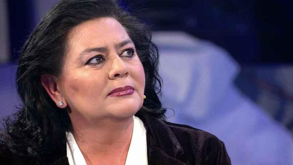 María del Monte durante una de sus últimas apariciones televisivas.