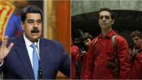 Nicolás Maduro y un fotograba de 'La Casa de Papel'.