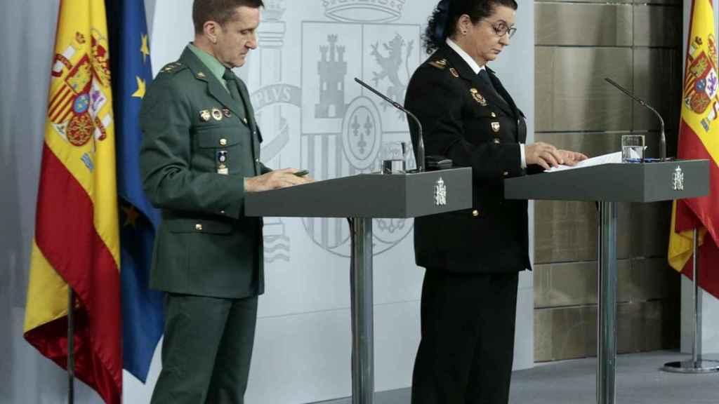 El general Santiago Marín, en una de las ruedas de prensa de los  últimos días.