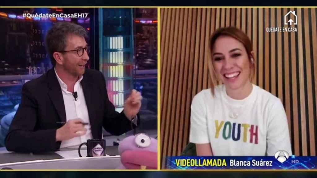 Blanca Suárez no ha dudado en enseñar su baño en 'El Hormiguero'.