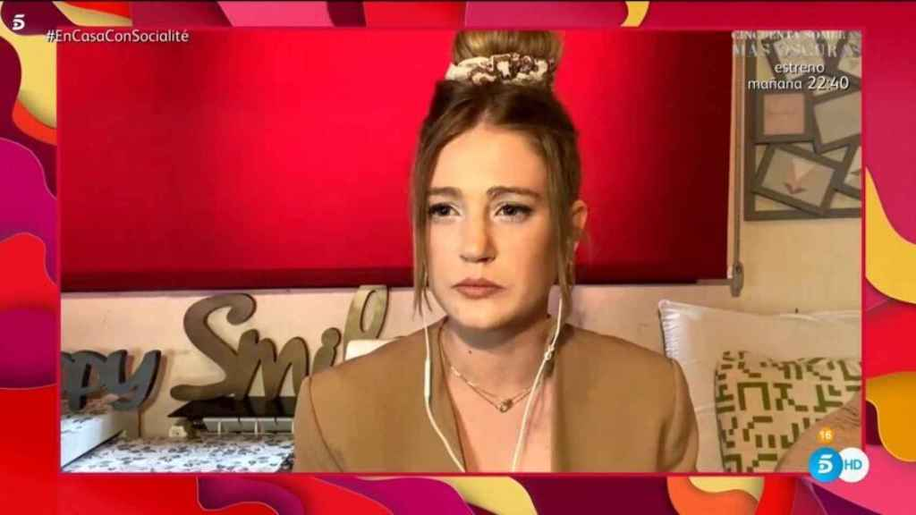 Sarah durante su intervención en el programa 'Socialité'.